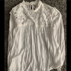 Forever 21 lace trimmed blouse